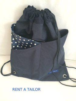 Kinderleichter Turnbeutel mit Crossover Taschen