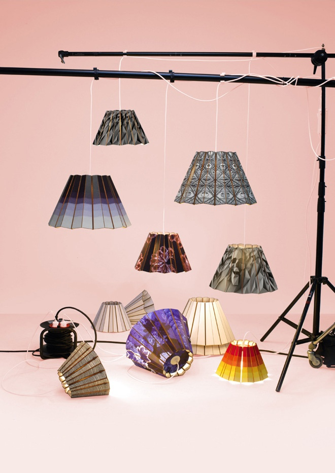 Compleated x Illustrated lamp shades