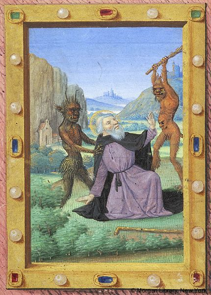 Anthony Abbot the Great, assailed by Demons | Book of Hours | France, Avignon | approximately 1485-1490 | The Morgan Library & Museum