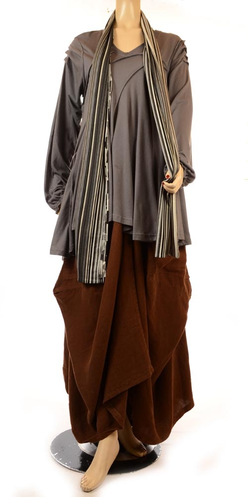 Completo Lino Funkiest Grey Transitional Lagenlook Tunic-Completo…