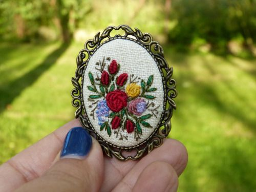 culturenlifestyle: Exquisite Embroidered Jewelry by Marta...