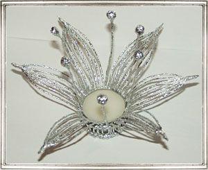 Галерея работ в технике плетения из фольги Олеси Емельяновой. Подсвечник «Лилия»