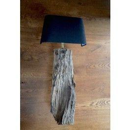 stoere wandlamp hout