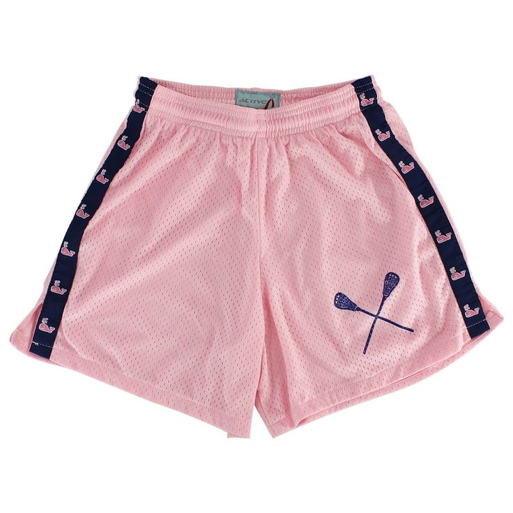 Lacrosse Unlimited Exclusive Design Pink Whale Girls Lacrosse Shorts - Adult Material: 100% Polyester Size: Adult
