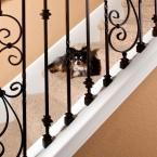 Stair Parts 1/2 in. Matte Black Iron Angled Baluster Shoe I350B-000-HDA0D at The Home Depot - Mobile