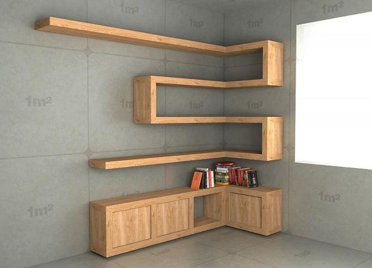 Półki na książki + zamykane szafeczki