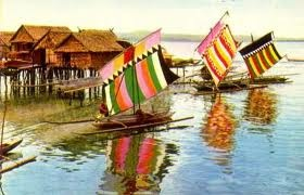 The colorful Vintas of Zamboanga City, Philippines. I think vintas means sails but made of colorful cloth.