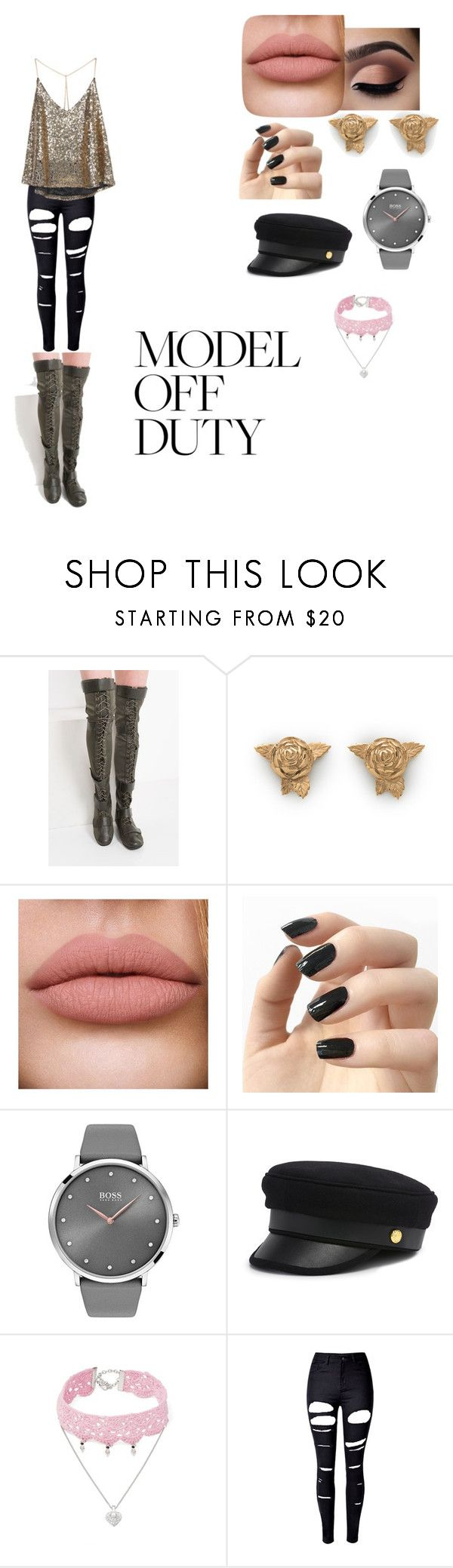 """""""Naomi Woods"""" by brexxymali ❤ liked on Polyvore featuring Incoco, BOSS Black, Henri Bendel, Design Lab and WithChic"""