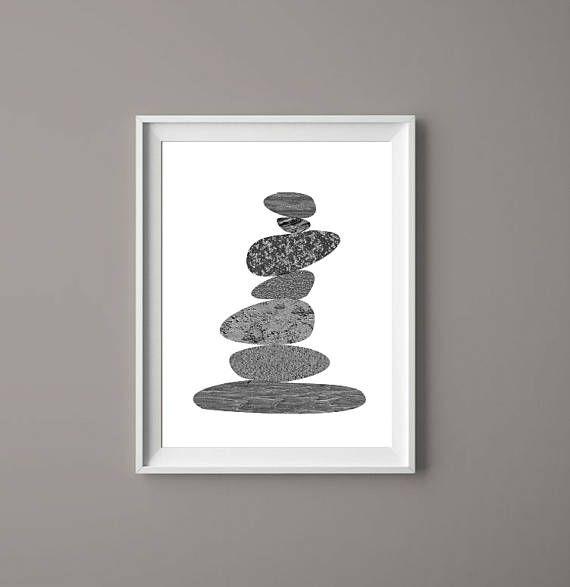 Stone Stack Cairn    Printable Art Prints Zen Downloadable     #art  #prints  #etsy  #cairn #printables  #wallartideas  #stonestack  #artinteriors