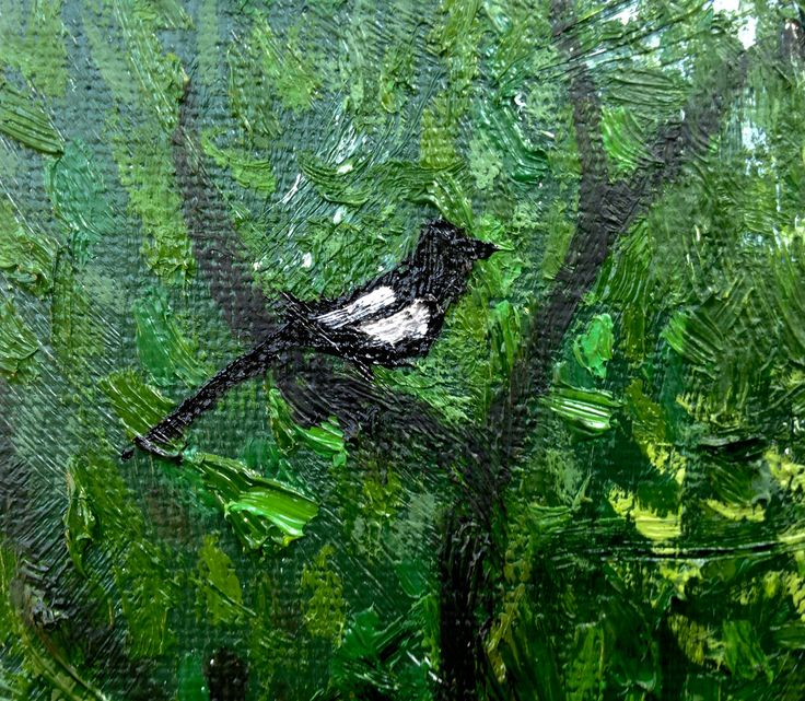 Magpie (detail from Venus in the woods)