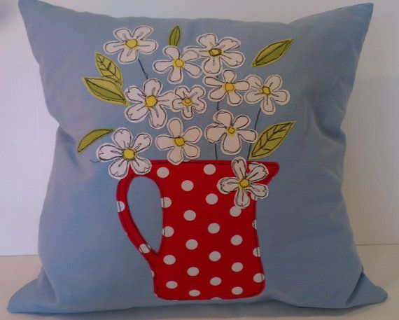 Flowers cushion cover by handmadebysarahjane on Etsy