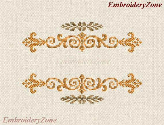 Decor ornament split monogram Machine Embroidery от EmbroideryZone