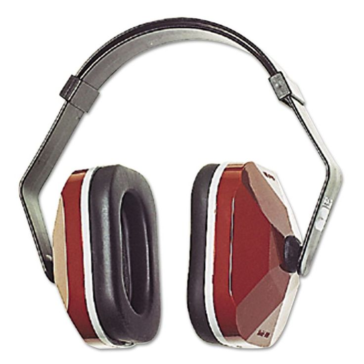 3M MMM3303001 E A R Model 1000 Earmuffs 20 NRR Maroon/Black Maroon/Black Maintenance Supplies Safety Ear Muffs