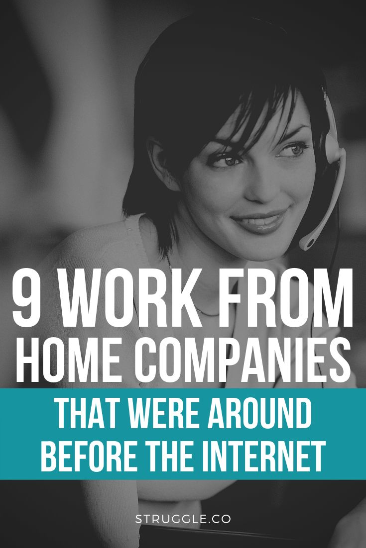 9 Work From Home Companies That Were Around Before the Internet – Make Money From Home