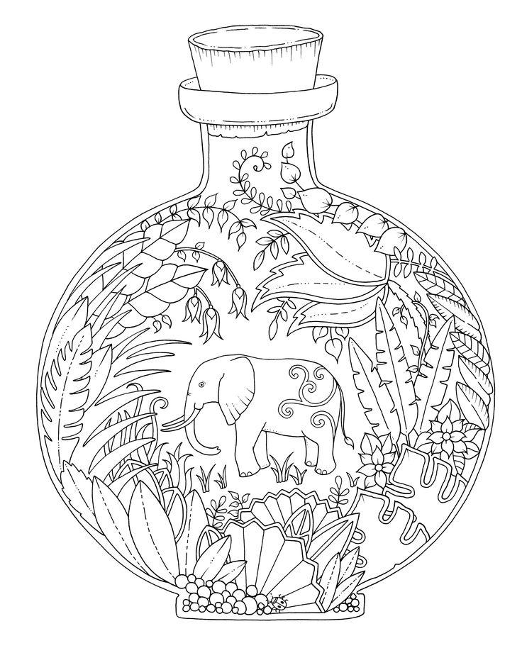 Elephant-In-A-Bottle-Magical-jungle-clip-art.jpg (2915×3621)