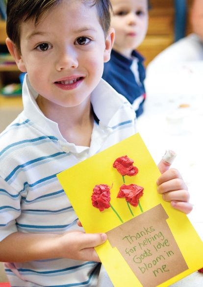 http://www.childrensministry.com/articles/mothers-day-flowerpot  Preschoolers can create these colorful flowerpot cards to give to the women they love on Mother's Day.
