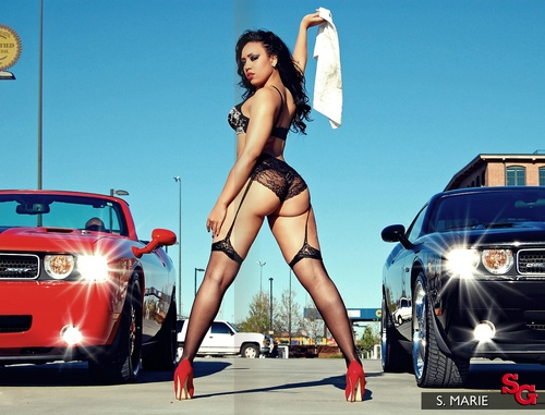 cool cars girls half naked