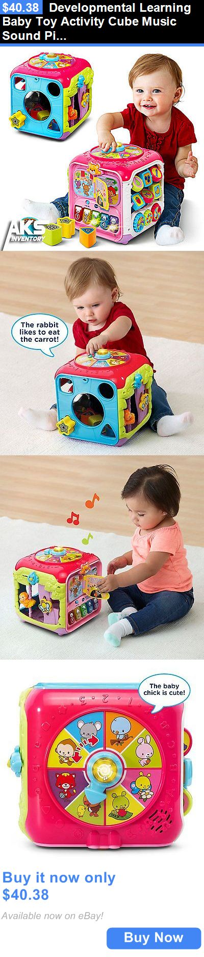 baby kid stuff: Developmental Learning Baby Toy Activity Cube Music Sound Pink Kids Play Fun New BUY IT NOW ONLY: $40.38