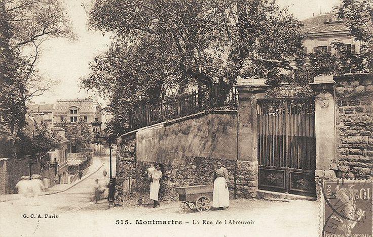 rue de l'Abreuvoir - Paris 18e La rue de l'Abreuvoir, vers 1900 (ancienne carte postale)