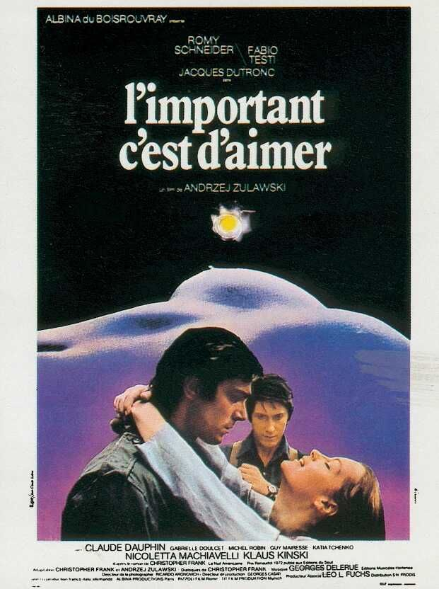 "The Important Thing Is To Love  - Andrezej Zulawski's celebrated Euro arthouse smash in the mid-70s. ""[It] charts a precarious, slow-burning love triangle between an actress-turned-porn starlet (Romy Schneider, in a career-defining performance), her jester-like husband (pop star Jacques Dutronc), and an admiring photographer that explores the tension between passion and duty, as well as art and trash. Featuring a stellar performance from Klaus Kinski that's easily the best thing about the…"