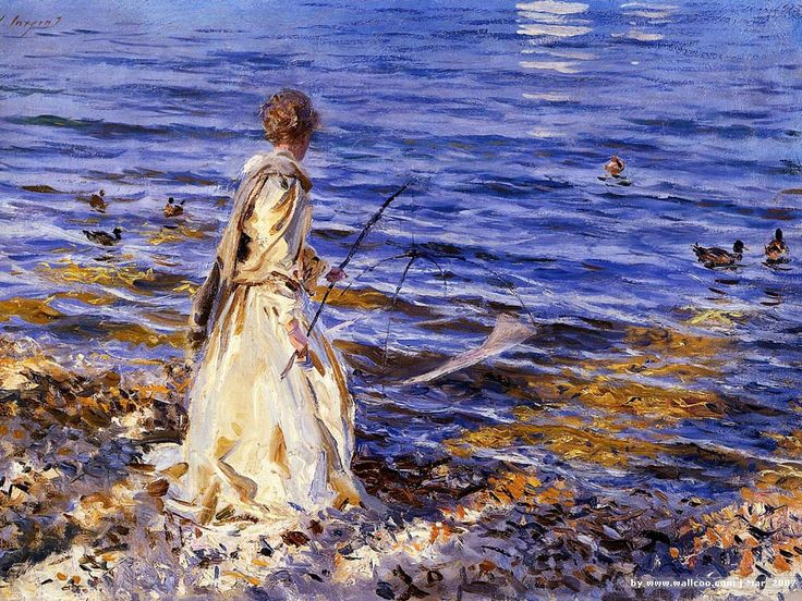 John Singer SargentBook Trailers, Girls Fish, John Singer Sargent, Girl Fishing, Painting Art, Girls Generation, Canvas, Art Painting, Oil Painting