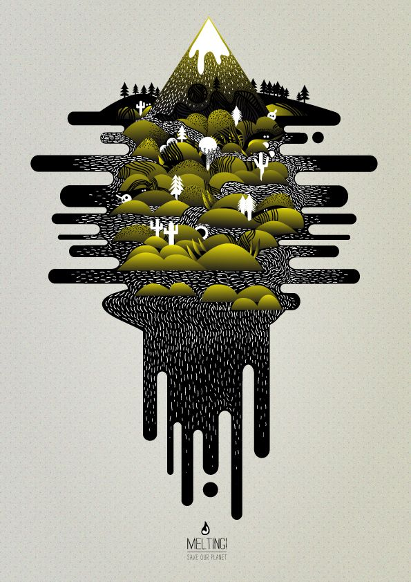 melting/desertification by Johni Seifert, via Behance