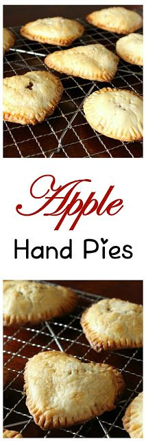 Apple Hand Pies using broken frozen pie shells! An easy way to keep from wasting those expensive frozen shells.