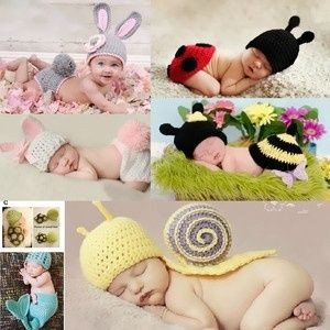 I found 'New-Born Baby Kids Crochet Knit Beanie Hats Costume Photo Prop Set 0-6 Months' on Wish, check it out!