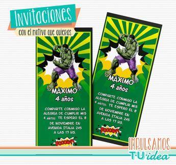 Increíble Hulk - Tarjetita para imprimir