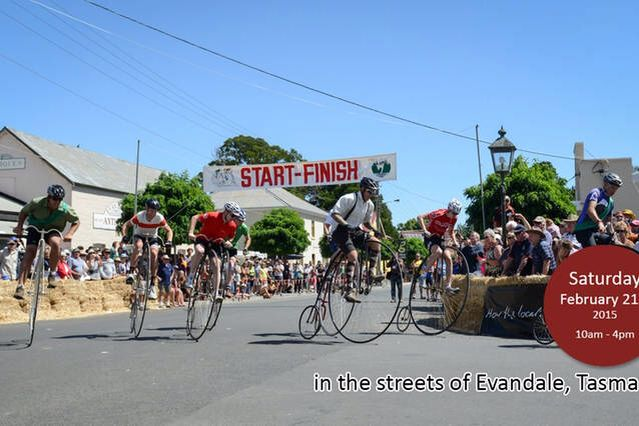 Penny Farthing Championship Evandale, Tasmania