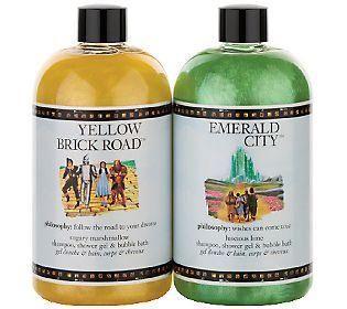 philosophy celebrates #WizardofOz75 with new scents Emerald City (luscious lime) + Yellow Brick Road (sugary marshmallow)