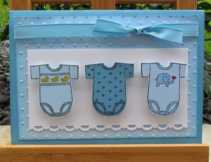 Three Boy Baby Tees in a Row by ChristieW - Cards and Paper Crafts at Splitcoaststampers