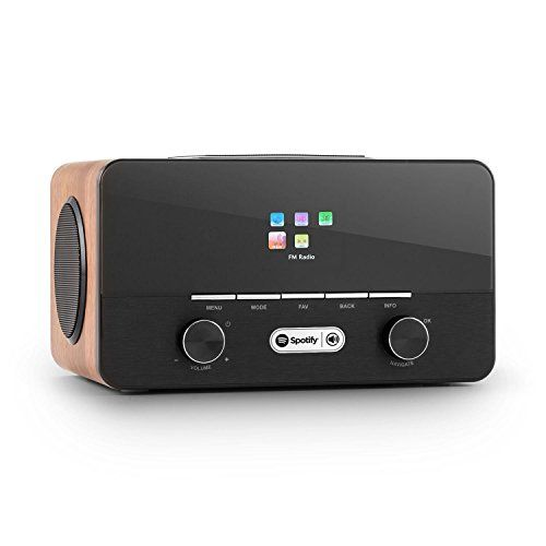 Deals week  Auna Connect 150 2.1 Internet Radio Media Player Stylish with Alarm Clock Remote (WLAN interface MP3-USB DAB   FM) Wooden Best Selling