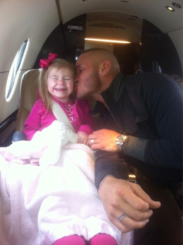 Randy Orton and adorable daughter <3 reminds me of the relationship i have with my dad <3