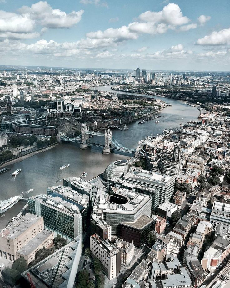 """197 Likes, 6 Comments - Gabriella Buzas (@epicstreetstyle) on Instagram: """"Nothing. But. Epic. 😍 . ."""" London city that view The Shard cityscape river architecture buildings view from the top birdseye amazing places lovelondon"""