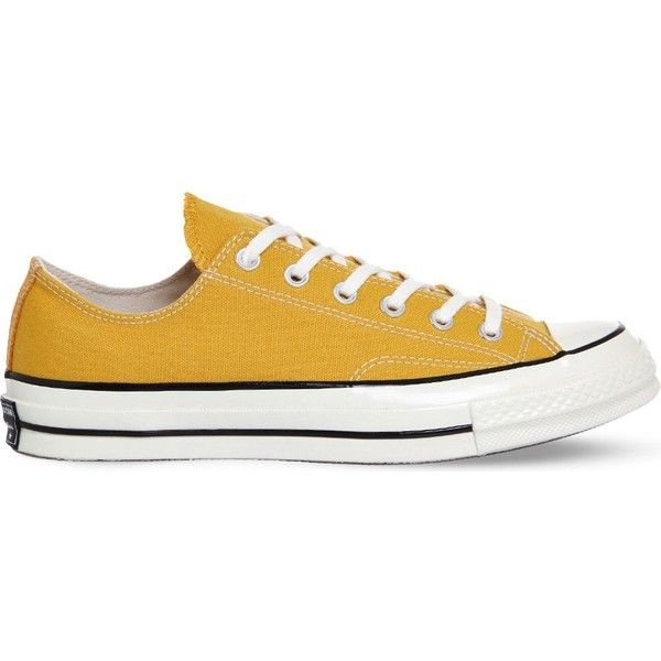 Converse All-Star Ox '70 canvas trainers found on Polyvore featuring shoes, sneakers, low top, black shoes, black lace shoes, converse shoes and punk shoes
