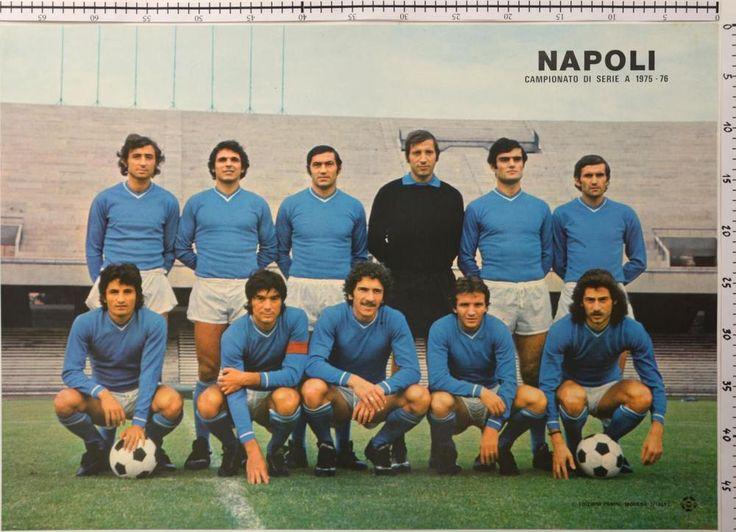 PANINI NAPOLI A 1975-76, poster calcio mai piegato