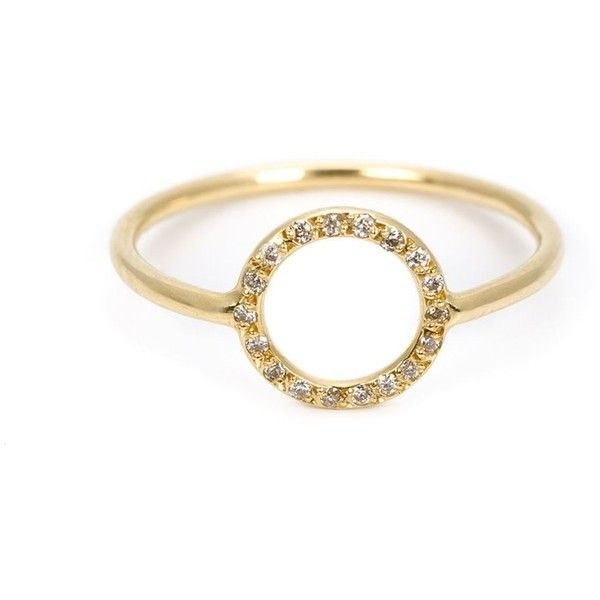 Ileana Makri circular diamond ring (1,040 CAD) ❤ liked on Polyvore featuring jewelry, rings, metallic, ileana makri, circle diamond rings, ileana makri jewelry, diamond rings and circle ring