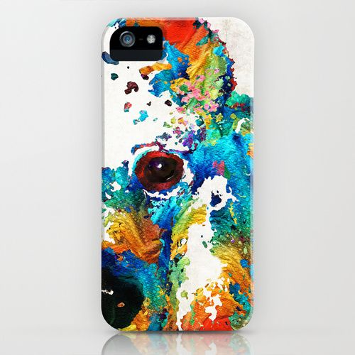 Colorful Poodle Dog Art by Sharon Cummings iPhone & iPod Case