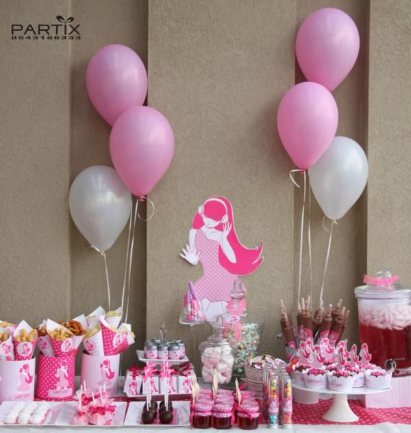 pink girl tween 10th birthday party planning ideas