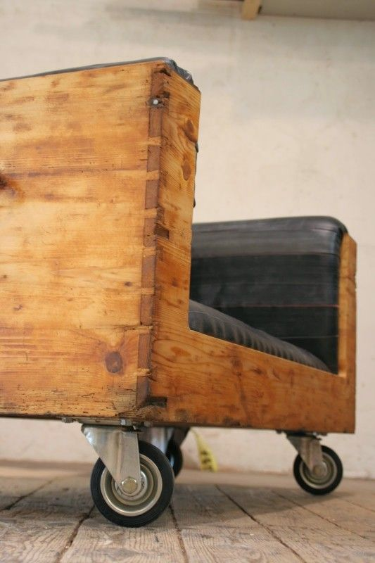 Upcycled Chest and inner tubes into a vintage Sofa in furniture  with Upcycled sofa Recycled Inner tube Chest