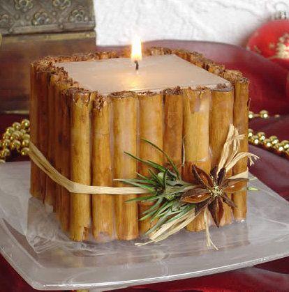 Cómo hacer una vela de canela