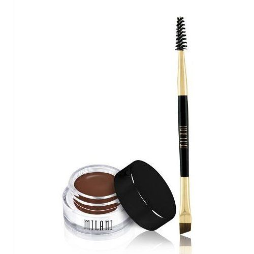(6 Pack) MILANI Stay Put Brow Color - Medium Brown. Stand out by filling in, like a pro. Count on superior staying power, the perfect amount of brow color, precise application and intense definition. Choose your closest match or combine two shades to achieve the most envy inducing brows imaginable. Dual ended, professional brush included. INGREDIENTSIsododecane, Dimethicone, Dicalcium Phosphate, Cyclopentasiloxane, Trihydroxystearin, Polyethylene, Mica, Quaternium 90 Bentonite, Polybutene...