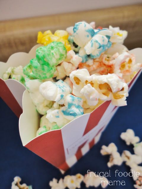 Sweet & Salty Rainbow Popcorn- kettle like popcorn in all the colors of the rainbow!