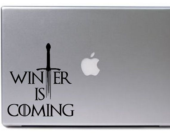 promo code 04787 e0551 Game of Thrones Decal / Winter is Coming Decal / by GiftedThimble ...
