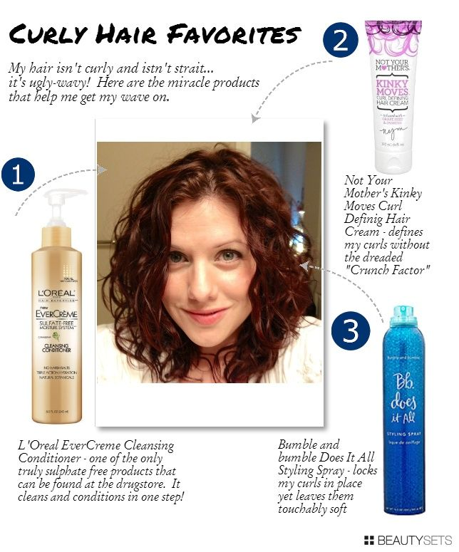 """Top 3 Products for Wimpy Wavy Hair - aka   how I bring out the curl!"" good to know. My hair is naturally wavy so I have   always wanted to try products that really brought out the curls"