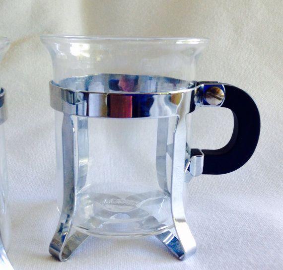 Vintage stijl van chambord Franse pers koffie kopjes door simplicate