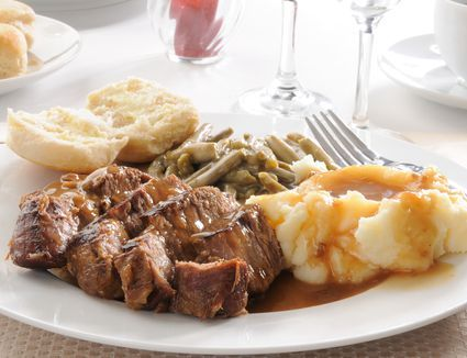 Here's a braised bottom round roast recipe with onions, bacon, and apple juice. A tangy and delicious beef pot roast braised in the oven.