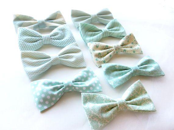 Minze Fliege Mix And Match, die Koordinierung der Hochzeit Fliege in Designer 100 % Baumwolle, jeder Größe