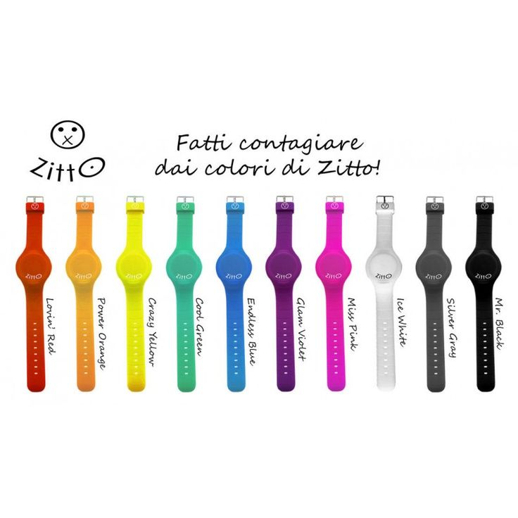 Fatti contagiare dai colori degli orologi digitali di Zitto.